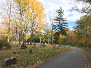 A beautiful New England cemetery.