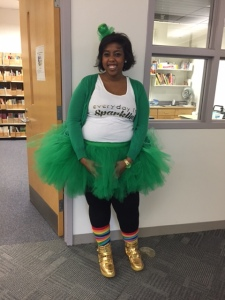 The Tutu Teacher on St. Patrick's Day. <3
