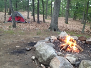 Their campsite.